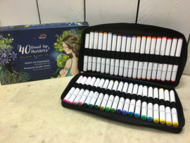 Etui met 40 alcohol markers-Colorya-It-Multi Color