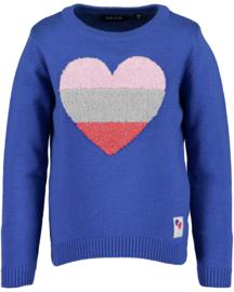 Blue Seven-Kids Girls knitted pullover-Ocean