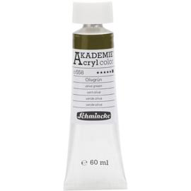 Acryl color-olive green (558), opaque, extr. fade resistant, 60ml-Schmincke AKADEMIE