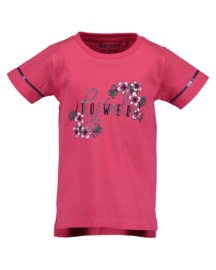 Kids Girls knitted T-Shirt-BLOSSOM-Blue Seven-BRIGHT RED ORIG
