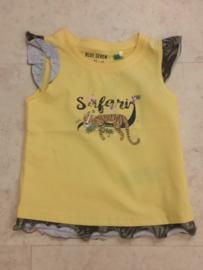 Blue Seven-Kids Girls knitted T-Shirt-Straw yellow
