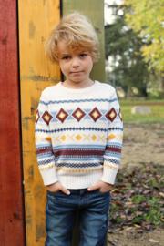 Blue Seven-Kids Boys knitted pullover-Off white orig