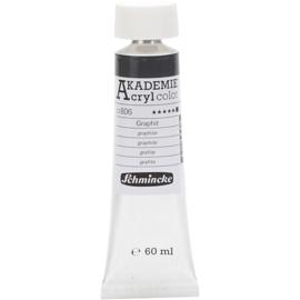 Acryl color-graphite (806), opaque, extr. fade resistant, 60ml-Schmincke AKADEMIE