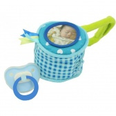 Boys Chick teat and dummy bag- Dushi- blauw