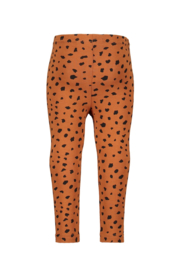 Bampidano-Baby Girls legging Coco plain/allover print-Mocha aop