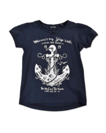 Girls Kids Shirt Ocean Love- Blue Seven- Blue