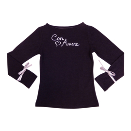 Girls  Shirt Con Amore- LoFff- Dark grey