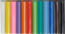 Kleiset staafjes 12 delig op kaart-C.W-Multi Color
