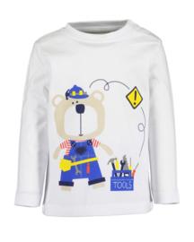 Blue Seven-Mini boys knitted shirt-White  orig