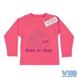 T-Shirt Born to Shop 3M-VIB-Rose