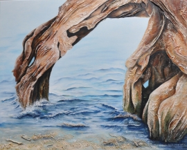 Water gives and takes;  80 x 100 cm 3d