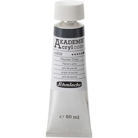Acryl color-payne's grey (658), opaque, extr. fade resistant, 60ml-Schmincke AKADEMIE