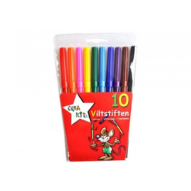 Viltstiften Crea-kit 10 stuks- C.W.- Multicolor