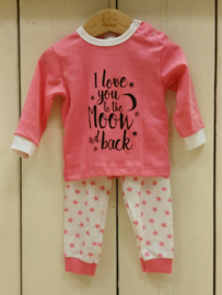 Girls Baby Pyjama I Love You- LPC- Rose