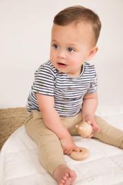 Dirkje-Baby Boys T-shirt ss -Navy + stripe + aop