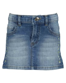 Kids Girls woven jeans skirt-LEMONADE BEACH-Blue Seven-JEANSBLUE ORIG