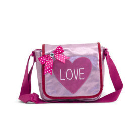 Girls Kinder Flaptasje Love-  Zebra- Pink