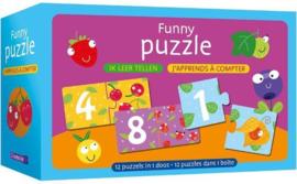 Deltas-Funny puzzle - Ik leer tellen-Blue