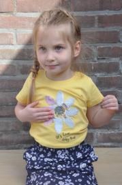 Blue Seven-Kids Girls knitted T-Shirt-Corn yellow