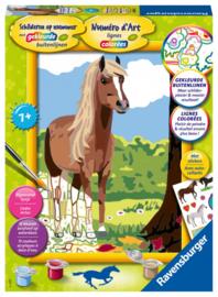 Ravensburger-Schilderen op nummer Serie Classic Paard- Formaat 18 x 24 cm-Multi Color