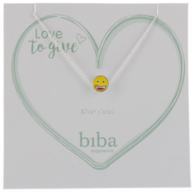 Ketting met bedel - Biba- Yellow silver