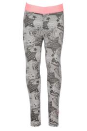 B.Nosy-Girls legging with glitter elastic- Grey melee