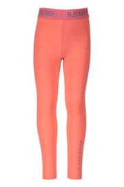 Girls legging with fancy elastic no side seam-B.Nosy-Neon Coral