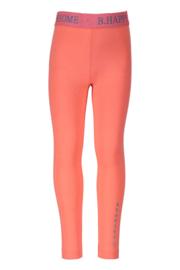 B.Nosy-Girls legging with fancy elastic no side seam-Neon Coral
