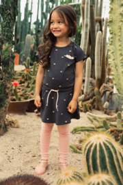 Koko Noko-Girls Dress ss-Dark grey + aop