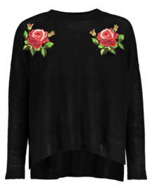 Girls knitted pullover- Blue Seven- Black ORIG
