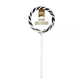 Lolly – Van harte gefeliciteerd-100% Leuk- Black-White