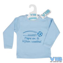 T-Shirt sssstt! Papa en ik kijken voetbal 3M-VIB-Light Blue