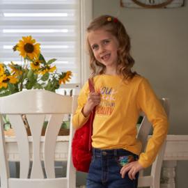 Blue Seven-Kids Girls knitted T-shirt-Mustard ORIG-Yellow