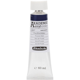Acryl color-prussian blue (447), semi-transparent, extr. fade resistant, 60ml-Schmincke AKADEMIE