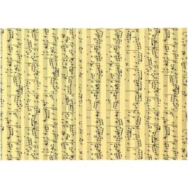 Muzieknoten karton, A4 210x297 mm, 180 gr, muzieknoten