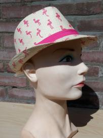 Maximo-Ewers-Kids Girls-Zonnehoed Trilby Flamingo glitter-Pink