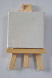 Mini canvas met schilderezel