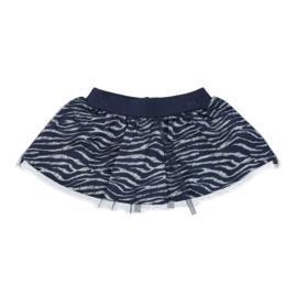 Dirkje-Girls Baby skirt-Navy + aop