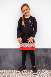 Girls Dress Poppy-OChill-Black