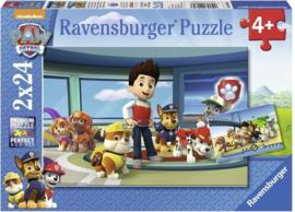 CW-Ravensburger Paw Patrol hulpvaardige speurneuzen-Twee puzzels- 24 stukjes-Blue
