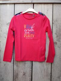 Blue Seven-Kids Girls knitted T-shirt-Lt Red