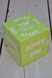 Zakdoekdoosje SUPER OPA-T-Green