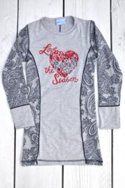 Girls Dress Edvigo- Porto Azul- Paisly light grey