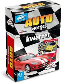Identity Games-Kwartet Auto weetjes-Kaartspel-Black-white