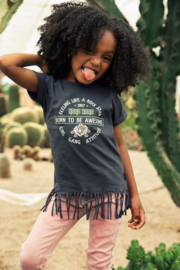 Koko Noko-Girls T-shirt ss-Dark grey