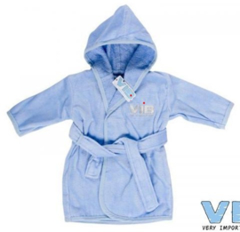 VIB.-Boys Badjas VIB'-Light Blue-Silver