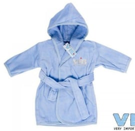 VIB.-Boys Badjas VIB-Light Blue-Silver