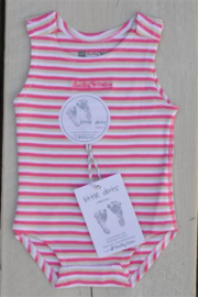 Baby Girls pre Romper-Ducky Beau- Rose stripe