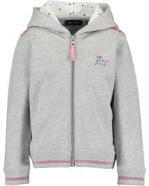 Blue Seven-Kids Girls knitted Sweat jacket- Grey melee orig