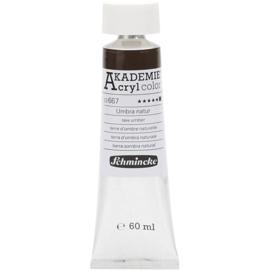 Acryl color-raw umber (667), opaque, extr. fade resistant, 60ml-Schmincke AKADEMIE